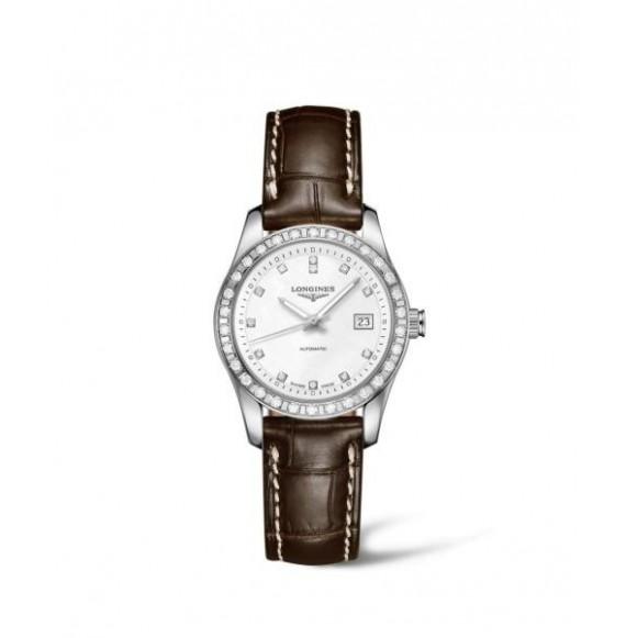 Longines Conquest Classic acero diamonds
