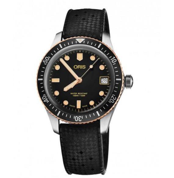 Oris diver sixty five caucho negro 40 mm
