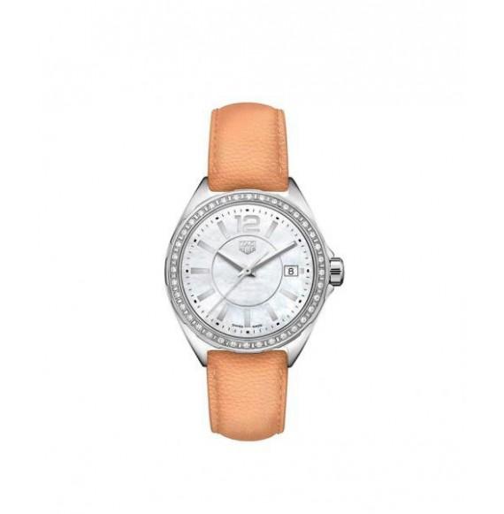 TAG HEUER FORMULA 1 lady diamonds piel beige 35 mm