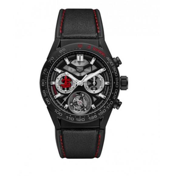 tag heuer carrera calibre heuer 02 tourbillon Ayrton Senna Special Edition titanio pvd negro