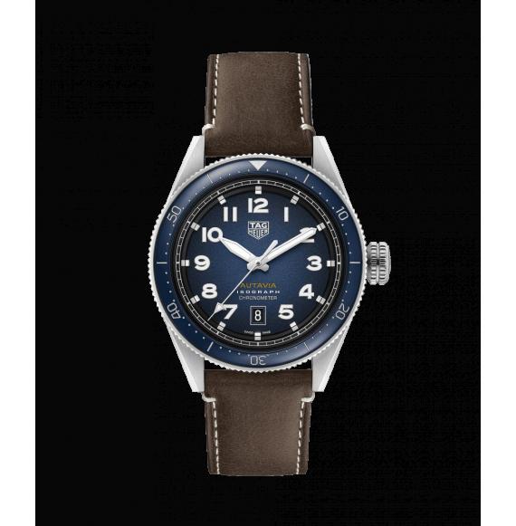 Reloj Tag Heuer Autavia Isograph WBE5112.FC8266 automático de correa marrón para hombre
