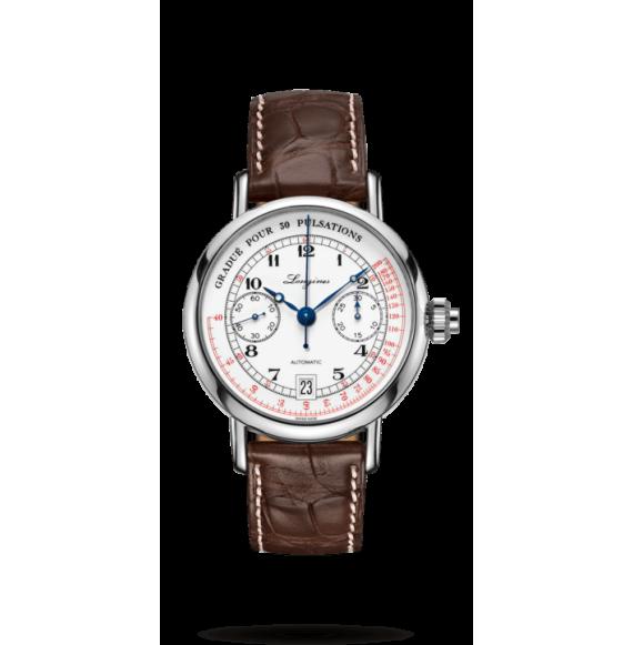 Reloj acero Longines Heritage L2.800.4.53.0  automático con cronógrafo para hombre
