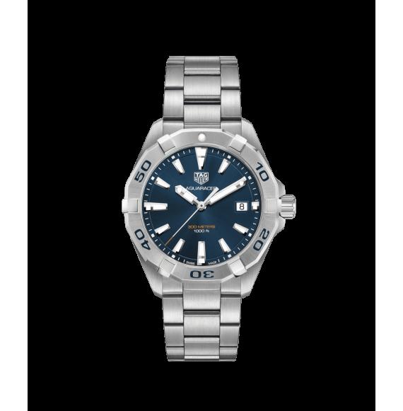 Reloj azul Tag Heuer Aquaracer WBD1112.BA0928  cuarzo de acero satinado pulido para hombre