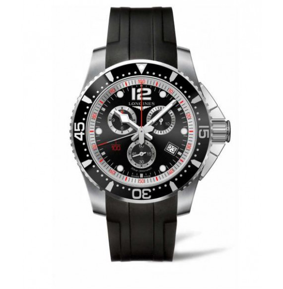 Longines Hydroconquest Chronograph 47.50 MM negro caucho