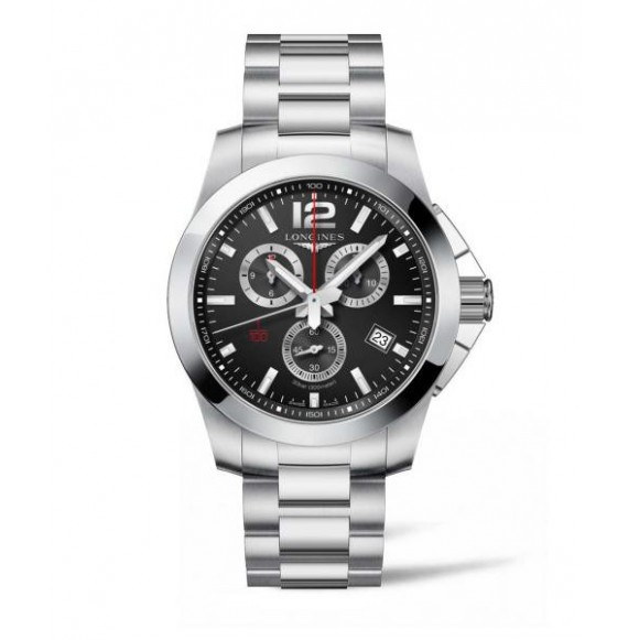 Longines Conquest chronograph  44 MM negro