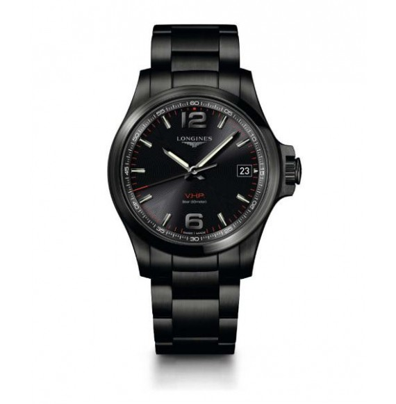 Longines Conquest  V.H.P. 41 MM PVD negro