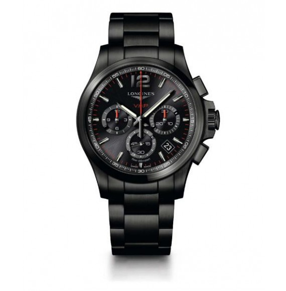 Longines Conquest  V.H.P. Chronograph 42 MM PVD negro