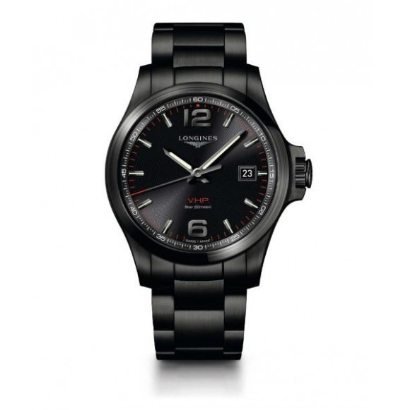 Longines Conquest  V.H.P. 43 MM PVD negro