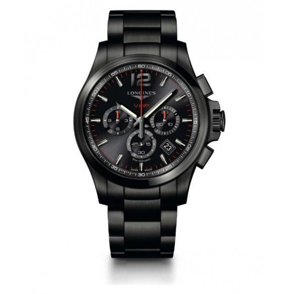Longines Conquest  V.H.P. Chronograph 44 MM PVD negro