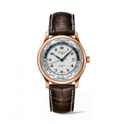 longines master collection World time gmt 38.50 mm oro rosa