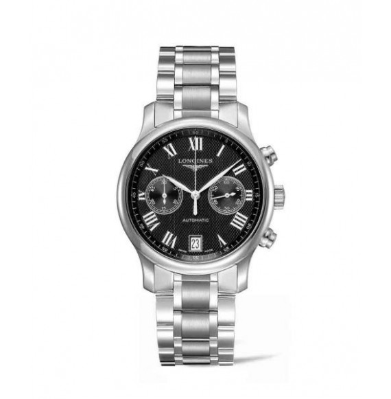 longines master collection chronograph esfera negra