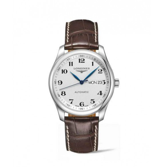 Longines master collection 38.50 mm. day date plateado