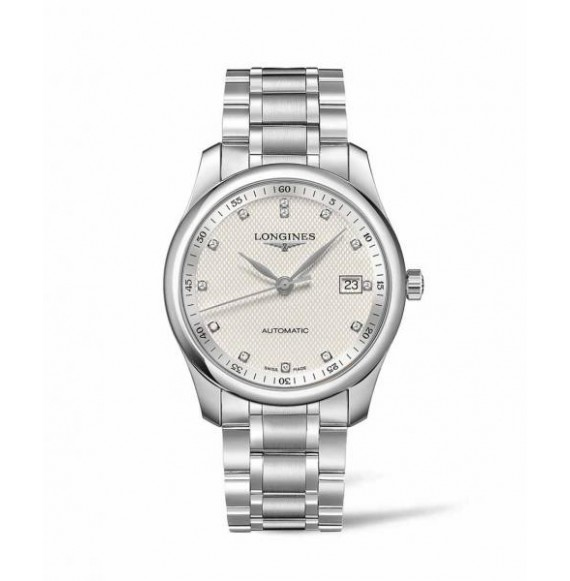 Longines master collection 40 mm plateada diamonds