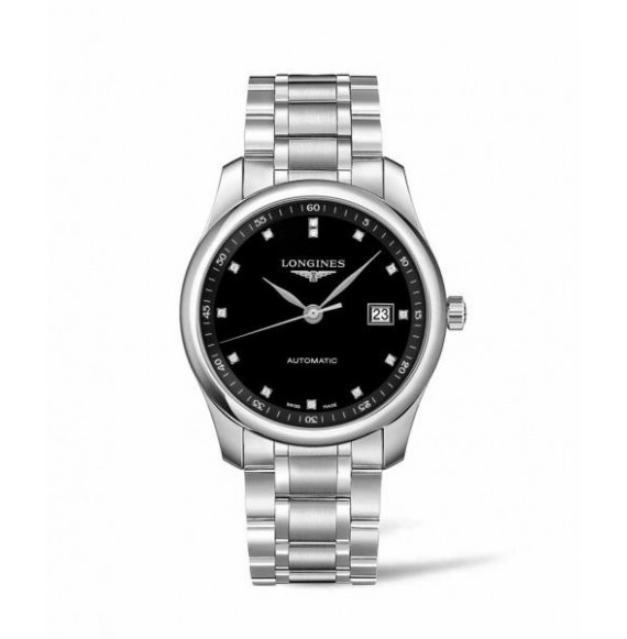 Longines master collection 40 mm negra diamonds