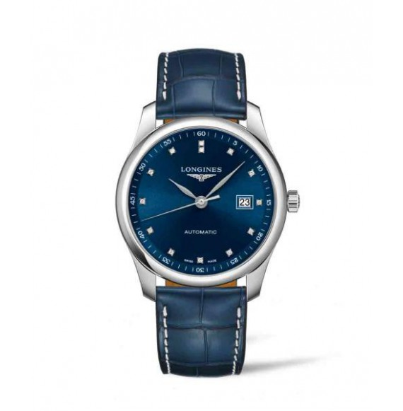 Longines  Master collection 40 mm. Azul diamonds