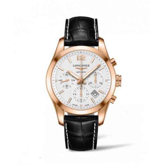Longines  Conquest Classic Chronograph Rose gold 18K