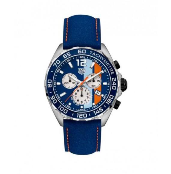 tag heuer formula 1 cronografo cuarzo azul acero edicion especial gulf