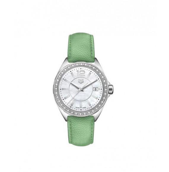 TAG HEUER FORMULA 1 lady diamonds piel verde 35 mm