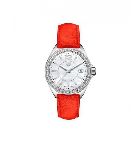 TAG HEUER FORMULA 1 lady diamonds piel rojo 35 mm