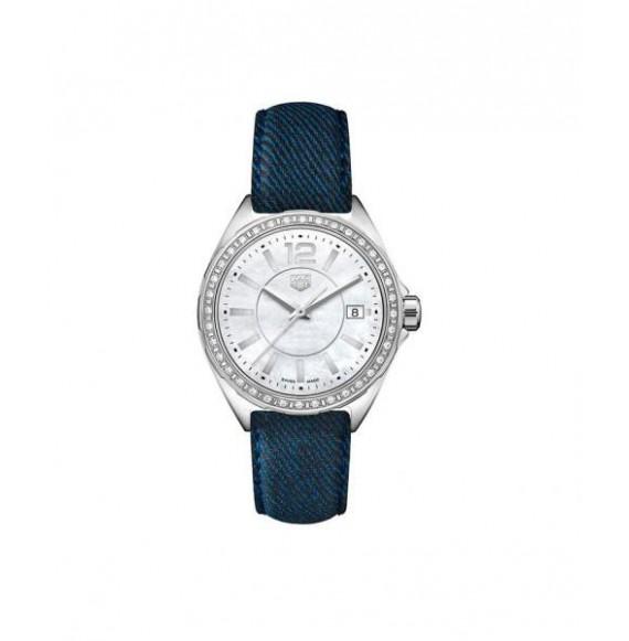 TAG HEUER FORMULA 1 lady diamonds piel azul 35 mm