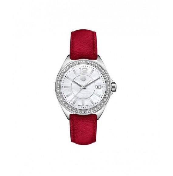 TAG HEUER FORMULA 1 lady diamonds piel roja 35 mm