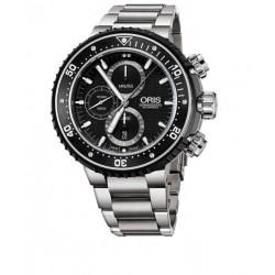 oris prodiver chronograph  negro titanio