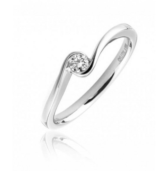 ANILLO SOLITARIO PEDIDA ORO BLANCO 18K DIAMANTE