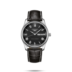 Reloj Longines Master Collection automático de piel negra para hombre