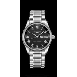 Reloj Longines Master Collection automático de acero con esfera negra para hombre