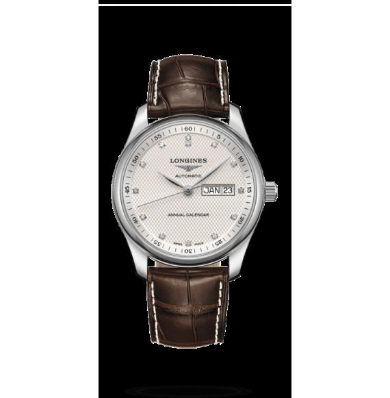 Reloj Longines L2.910.4.77.3 Master Collection piel caimán marrón para hombre