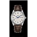 Reloj Longines Master Collection automático de acero y  piel  marrón para hombre