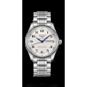 Reloj Longines Master Collection automático de acero y esfera plateada para hombre