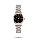 Reloj Longines Record Collection automático de acero y lámina de oro rosa para mujer