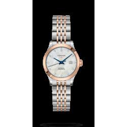 Reloj Longines Record Collection automático de acero e índices de diamantes para mujer