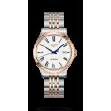 Reloj Longines Record Collection automático de acero y oro rosa 18 K mujer