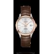 Reloj automático Longines Collection L2.820.5.72.2 de piel caimán marrón para hombre