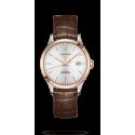 Reloj Longines Record Collection automático de piel marrón para mujer