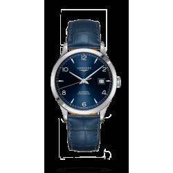 Reloj Longines Record Collection automático de acero y piel azul para hombre