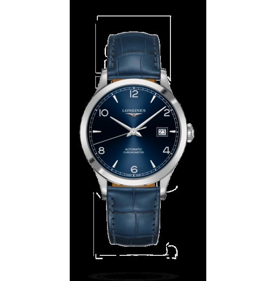 Reloj automático Longines Master Collection L2.821.4.96.4 de piel caimán azul para hombre