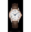 Reloj automático Longines Master Collection L2.821.5.11.2 de piel caimán marrón para hombre