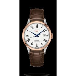 Reloj  Longines Record  Collection automático de acero y oro rosa 18 K para hombre