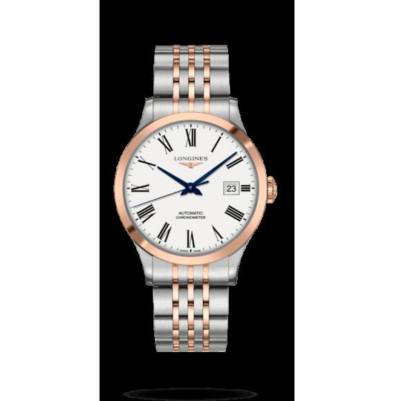 Reloj Longines Master Collection L2.821.5.11.7 de acero inoxidable y lamina de oro rosa para hombre