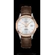 Reloj automático Longines Master Collection L2.821.5.72.2de piel caimán marrón para hombre