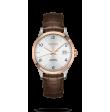 Reloj automático Longines Master Collection L2.821.5.76.2 de piel caimán marrón para hombre