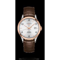 Reloj Longines Record  Collection automático de piel caimán marrón para hombre