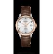 Reloj automático Longines Record Collection L2.820.5.76.2 de piel caimán marrón unisex