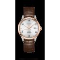 Reloj Longines Record Collection automático de acero y oro rosa 18 K unisex