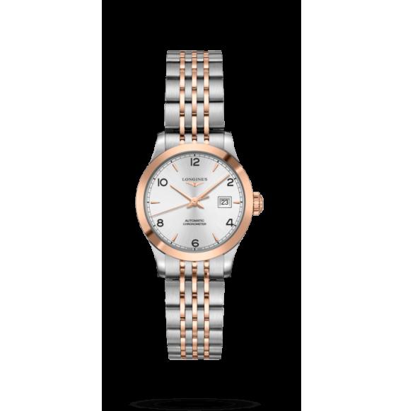 Reloj automático Longines  Record Collection bicolor para mujer