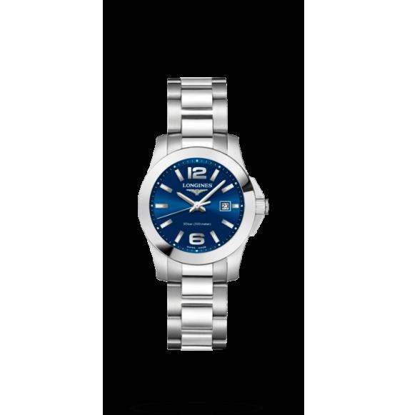 Reloj cuarzo Longines Conquest L3.376.4.96.6 de acero inoxidable para mujer