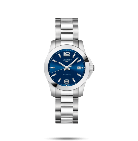 Reloj cuarzo Longines Conquest  L3.377.4.96.6 de acero inoxidable para mujer